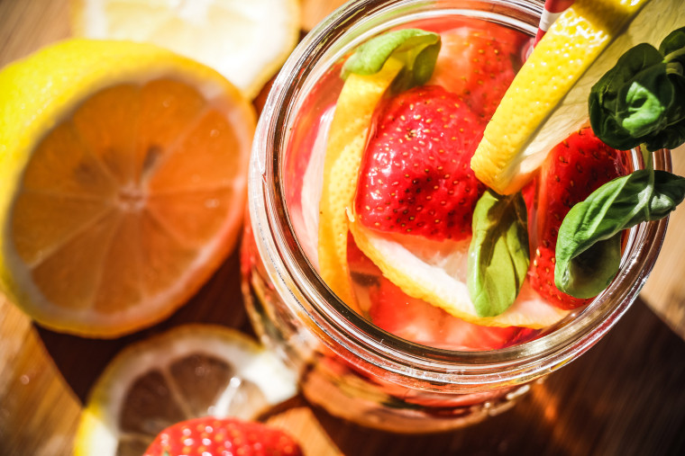 strawberry-basil-infused-water-closeup